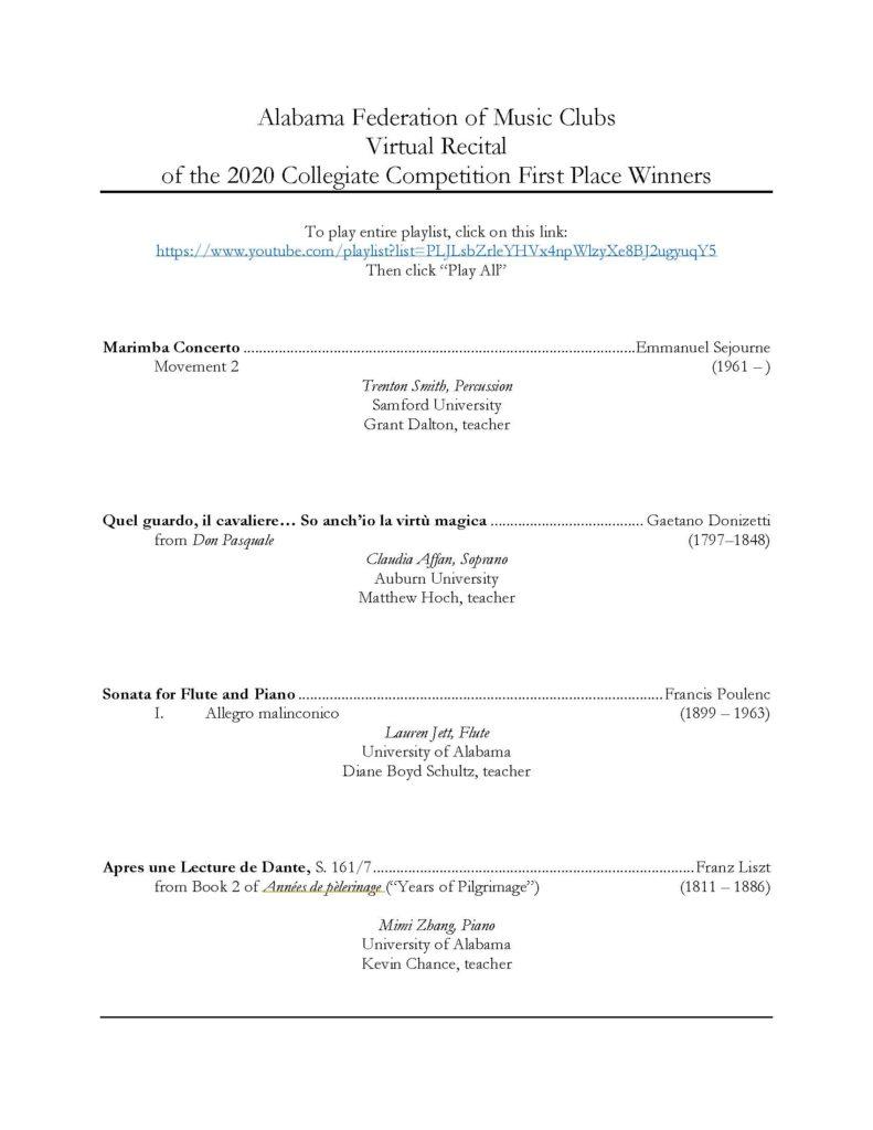 Donizetti Concertino Pdf Files AFMC-2020-Winners-Recital-Program-791x1024